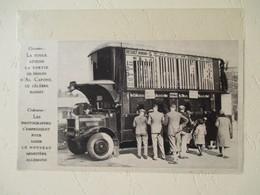 Autodrome De Brooklands Weybridge - Camion De Pari Mutuel Course Automobile - Coupure De Presse De 1930 - Camions