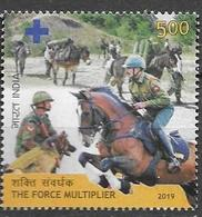 INDIA, 2019, MNH, FORCE MULTPLIER, MILITARY, HORSES, DOGS, 1v - Horses