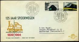 (J13301) - Nederland - FDC - 125 Jaar Spoorwegen - FDC