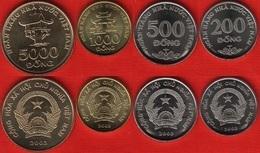 Vietnam Set Of 4 Coins: 200 - 5000 Dong 2003 UNC - Vietnam