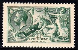 GRAN BRETAGNA 1913 WATERLOW  £ 1 SG 404  DULL BLUE GREEN  SUPERBLY FRESH MINT WONDERFULLY CENTRED FABUOLUS COLOUR - Nuevos