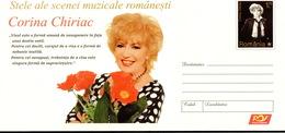 Romania, Postal Stationery -  Corina Chiriac - Music
