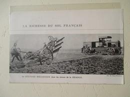 Transport Utilitaire - Plaine De A Beauce - Tracteur Et Culture Mécanique - Coupure De Presse De 1924 - Tractors