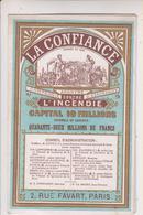SP- PUB - Calendriers 1886 - LA CONFIANCE - Contre L'incendie - Assurance - 13 X 8,5 - - Calendars