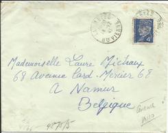 1941-42 N° 521A Oblitéré (o) SEUL Sur Lettre CENSUREE - LA MEYZE - Frankreich