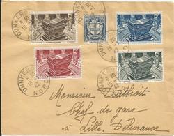 1942- N° 532 + 4 Vignettes Oblitérés (o) Sur Lettre - DUNKERQUE - Francia