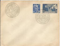 1943 - N° 583 Et 886 Oblitérés Sur Enveloppe - VENTE Des Vins Des Hospices De BEAUNE Novembre 1953 - France