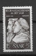 1951 MNH Saarland Mi 308 Postfris** - Ungebraucht