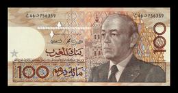 # # # Banknote Marokko (Morocco) 100 Dirhams Von 1987 UNC # # # - Marokko