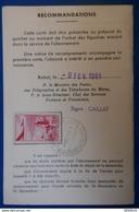 237 MAROC CARTE ABONNé AVEC TIMBRE 1961 PHILATELIE - Maroc (1956-...)