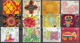 INDIA, 2019, MNH, ART, LOCAL CRAFTS, EMBROIDERY, FLOWERS, BIRDS, ELEPHANTS, COSTUMES, 12v - Art