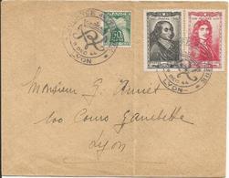 1944 - N° 612 à 617 (série Complète) Oblitérés Sur 4 Lettres - JOURNEE DU TIMBRE LYON 1944 - RRR - France