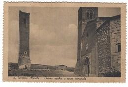 4788 - S SEVERINO MARCHE DUOMO VECCHIO E TORRE COMUNALE 1940 CIRCA MACERATA - Italia