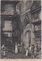 56 : VANNES : Vieux Vannes - Le Porche De La Cathédrale : Illustration :  ( Grand Format ) - Vannes