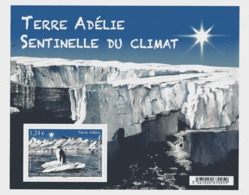 BF99 TAAF F753 2015 Adélie Sentinelle Du Climat Paysage Iceberg - Blocs-feuillets