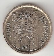 Spain  5 Pesetas  1999    Km 1008  Unc - [ 5] 1949-… : Kingdom