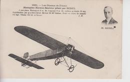 CPA Les Oiseaux De France - Monoplan Morane-Saulnier Piloté Par Bedel ... - Airmen, Fliers