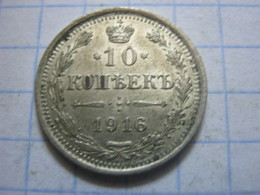 Russia , 10 Kopeks 1916 - Russia