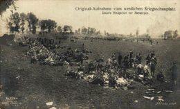 Original-Aufnahme Vom Westlichen Kriegsschauplatz UNSERE BLAUJACKEN VOR ANTWERPEN  WWI ANTWERPEN ANVERS WWICOLLECTION - Antwerpen