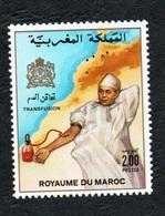 1987- Morocco - Maroc- Blood Transfusion- Transfusion Sanguine - Complete Set 1v.MNH** - Medizin