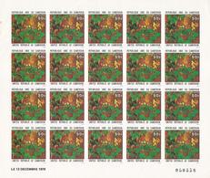 Feuille Complete 20 Timbres Non Dentelés Numérotés-cameroun /cameroon-piper Capense 50F-13 Decembre 1979 - Cameroun (1960-...)