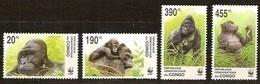 Congo 2002 OBCn° 2110-2113 *** MNH Cote 15 Euro Faune WWF Gorilla Gorille - Nuevos