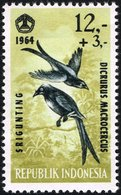 1965 12r+3r Black Drongo, Mint Never Hinged - Indonesia