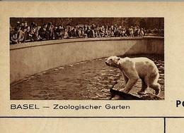 Carte Illustrée Neuve  N° 163 - 038 C ( BASEL -- Zoologischer Garten ) Eisbar - Ours Blanc - Entiers Postaux