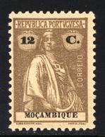 ! ! Mozambique - 1921 Ceres 12 C (Perf. 12 X 11 3/4) - Af. 229 - MH - Mozambique