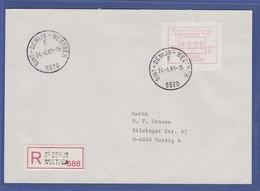 Belgien Sonder-ATM FLANDERS '89, Wert 93.00 Auf R-Brief  Nach Merzig - Postage Labels