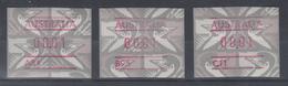 Australien Frama-ATM Emu Grau  Set 3 ATM Mit A- , B-  Und  C-Nummer ** - Vignettes D'affranchissement (ATM/Frama)