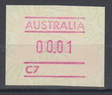 Australien Frama-ATM Waratah-Blume Mit Automatennummer C7 ** - Vignettes D'affranchissement (ATM/Frama)