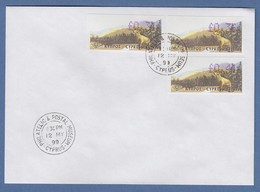 Zypern Amiel-ATM 1999 Mi-Nr. 2 Auflage B Werte 0,31 - 0,36 - 0,41 Auf FDC - Unclassified