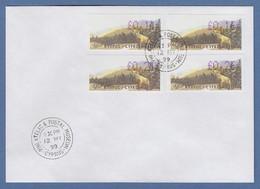 Zypern Amiel-ATM 1999 Mi-Nr. 2 Auflage B Werte 0,11 - 0,16 - 0,21 - 0,26 Auf FDC - Unclassified