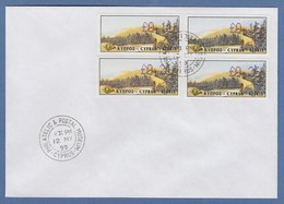 Zypern Amiel-ATM 1999 Mi-Nr. 3 Werte 0,11 - 0,16 - 0,21 - 0,26  Auf FDC - Unclassified