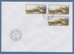 Zypern Amiel-ATM 1999 Mi-Nr. 3 Werte 0,31 - 0,36 - 0,41 Auf FDC - Unclassified