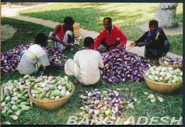 °°° 20461 - BANGLADESH - WORKERS ARE SORTING GREEN VEGETABLES - 1999 °°° - Bangladesh