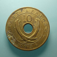 East Africa 10 Cents 1936 Clean - British Colony