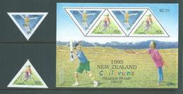 New Zealand 1995 Children's Sports Set Of 2 & Miniature Sheet MNH - Nueva Zelanda