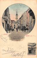 LINZ AUSTRIA~ALTSTADT & LANDHAUS BRUNNEN~1901 KEYHOLE PHOTO POSTCARD 44770 - Linz