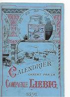 Liebig, Calendrier 1891 - Liebig