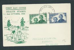 New Zealand 1944 Health Charity Set Of 2 On FDC Illustrated Addressed - Covers & Documents