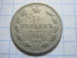 Russia , 15 Kopeks 1902 СПБ АР - Russia