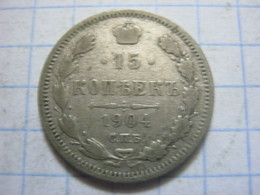 Russia , 15 Kopeks 1904 СПБ АР - Russia