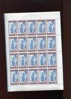 Belgie 1966 1386 Abbaye Aubel  Vel Plaatnummer - Full Sheets