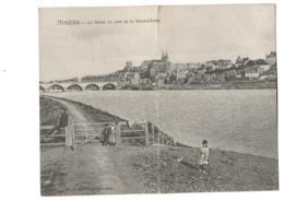 CPA Double Verticale  Angers  La Maine  Au Pont De La Basse-Chaine  Editeur Héliotypie Dugas Nantes  (Etat TB)  1908 - Angers