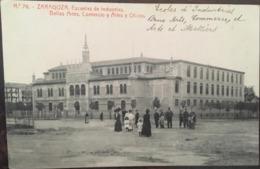 Cpa, ZARAGOZA Phototipia Thomas N° 76, Escuelas De Industrias, Bellas Artes, Comercio Y Artes Y Oficios,1912, ESPAGNE - Zaragoza
