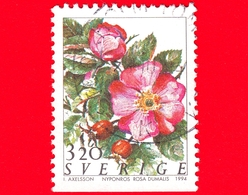 SVEZIA - Usato - 1994 - Flora - Fiori - Flowers - Fleurs - Rosa - (Rosa Dumalis) - 3.20 - Svezia