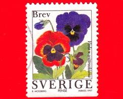 SVEZIA - Usato - 1997 - Fiori Di Giardino - Viola Del Pensiero - Pansy (Viola Wittrockiana) - BREV INRIKES º - No Valore - Svezia