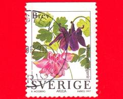 SVEZIA - Usato - 1997 - Fiori Di Giardino - Aquilegia - Columbine (Aquilegia Vulgaris) - BREV INRIKES º - No Valore - Svezia
